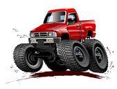 Cartoon Monster Truck one-click repaint — Stock Vector