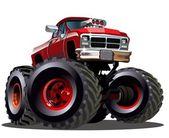 Camión monstruo de la historieta — Vector de stock
