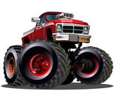 Cartoon-monster-truck — Stockvektor