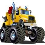 Cartoon Monster Tow Truck — Stock Vector #48321547