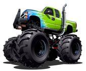 Cartoon Monster Truck — Stock Vector