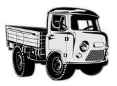 Cartoon delivery cargo pickup — Stockvektor