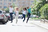 Jump for joy! — Stock Photo