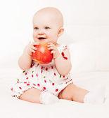 Baby withapple — Stock Photo