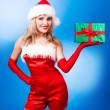 Woman dressed as Santa — Stock Photo #13160308
