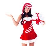 Woman dressed as Santa — Stock Photo #13160331