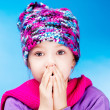 Girl feels cold - Stock Photo