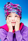 Girl feels cold — Stock Photo