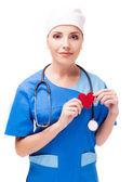 Cardiólogo aislado — Foto de Stock