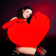 Girl with a heart — Fotografia Stock  #1796828
