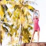 mujer en resort — Foto de Stock
