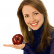 Beautiful woman with an apple — Foto de Stock   #1916290