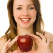 Beautiful woman with an apple — Foto de Stock   #1916329