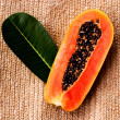 Stock Photo: Juicy papaya