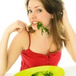 Girl keeping a diet — Stock Photo #1943832