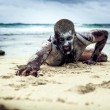 Stock Photo: Zombie on beach