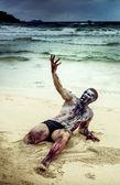Zombi sahilde — Stok fotoğraf