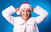 Glad kvinna — Stockfoto