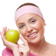 Woman with an apple — Stock Photo #37615561