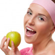 Woman with an apple — Stock Photo #37615761