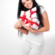 Girl with presents — Stock Photo #4220441