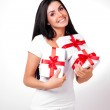 Girl with presents — Stock Photo #4220480