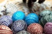 Ornamented Easter eggs. — Stock Photo
