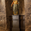 Stockfoto: Our Lady of Victory statue dating from 17th century.
