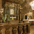 Stockfoto: Chapel of Saint Kingin WieliczkSalt Mine, Poland.