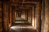 Underground corridor in the Wieliczka Salt Mine, Poland. — Stock Photo