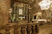 The Chapel of Saint Kinga in Wieliczka Salt Mine, Poland. — Foto de Stock