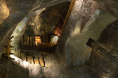Ceiling of one of the Chambers at Wieliczka Salt Mine, Poland. — Stock Photo