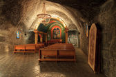 The St. John Chapel is located at a depth of 135m below ground, Poland — Stock Photo