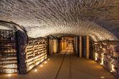 Underground corridor in the Wieliczka Salt Mine, Poland. — Stock Photo