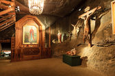 Side aisle. St. John Chapel in the Wieliczka Salt Mine, Poland. — Stock Photo