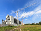 Large construction cranes — Stock Photo