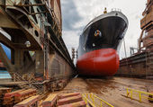 Tanker in dry dock — Stock Photo