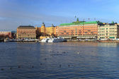 The Old Town - Gamla Stan of Stockholm, Sweden. — Stock Photo