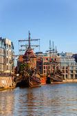 Old galleons — Stock Photo
