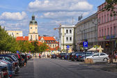 City life in Bialystok, Poland. — Stock Photo