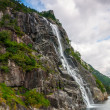 Waterfall in the Norwegian fjords — Stock Photo