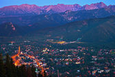 Zakopane at night — Stock Photo