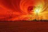 Tempesta solare — Foto Stock
