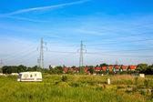 Electricity pylons — Stock Photo