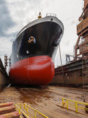Tanker in dry dock — Foto Stock