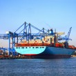 Stock Photo: Loading Container Ship