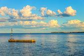 Wooden sea mooring — Stock Photo