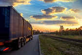 Truck on road — Foto Stock