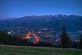 Night panorama of Zakopane — Stock Photo