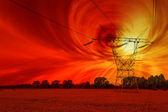Solar storm — Stock Photo